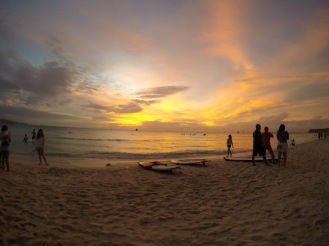 Sunset from Boracay's White Beach