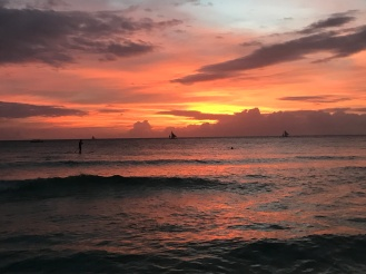 Sunset from Boracay's White Beach